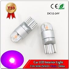 1x Purple 360° T10 W5W 2825 2-3030-SMD LED Bulbs For Car Interior Dome Map Light