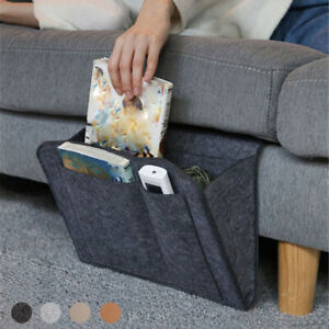 Felt Sofa Organizer Pocket Bedside Caddy Storage Hanging Bag Book Holder Home