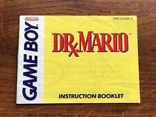 Dr. Mario Original Nintendo Gameboy Instruction Manual Only