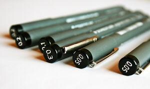 Staedlter Pigment Liner Fineliner Drawing 308 Pens (Ranges 0.05mm - 1.2mm)