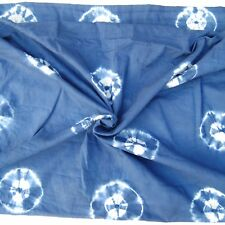 2.5Yard Bhandani Indigo Craft Sewing Cloth Indian Hand-Dye Cotton Shibori Fabric
