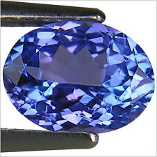 1.13 Ct A+ Natural D Block Tanzanite Medium Light Blue Violet Color Oval Cut