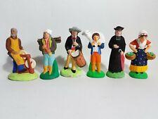 Lot de 6 santons de Provence métiers Carbonel Escoffier ?