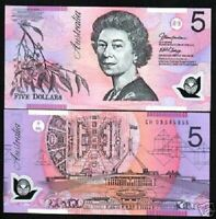 AUSTRALIA 5 DOLLARS P-57 2006 POLYMER QUEEN PARLIAMENT UNC MONEY BANKNOTE