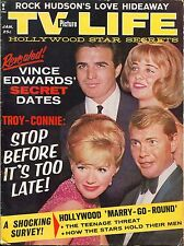 TV PICTURE LIFE MAGAZINE January 1963 1/63 VINCE EDWARDS CONNIE STEVENS A-1-1