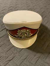 Vintage Marching Band Hat, Red & White (no Plume)