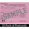 25 Fire President Donald Trump Postcards You're Fired  Pink Slip Notice Resist