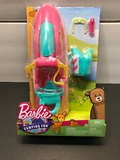 """Barbie Camping Fun On the Go Water Craft Jet Ski 12"""" Doll Accessories Boat Toy"""