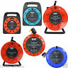 2,4 WAY 5M/10M/25M CABLE EXTENSION REEL LEAD MAINS SOCKET HEAVY DUTY ELECTRICAL