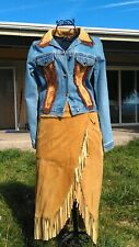 Western Genuine Suede Skirt Size 4 NWOT.Never worn.