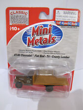 Classic Metal Works Mini Metals 41/46 Chevrolet Flatbed Tri County Lumber 1:87