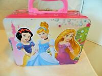 DISNEY PRINCESS SNOW WHITE CINDERELLA RAPUNZEL TIN LUNCH BOX, NO THERMOS