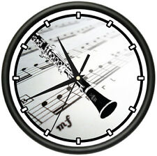 CLARINET Wall Clock music teacher school band reeds