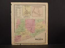 New York Otsego County Map 1868 Town of Decatur N4#86