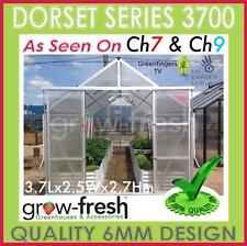 6mm ALUMINIUM POLYCARBONATE Garden GREENHOUSE Shade GREEN HOT HOUSE Shed 3.7S