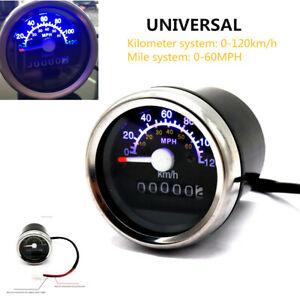 Motorcycle ATV LCD Digital Speedometer Odometer Double Mileage Kilometer Device