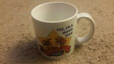 """ALF TV SHOW 1986 CERAMIC  CUP """"YES I'M A MOVIE STAR"""" NEW IN BOX"""