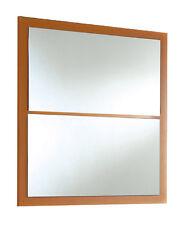 Espejo para pasillo, baño, aseo, habitación o recibidor color naranja  83x79