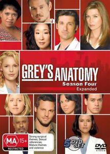 Greys Anatomy Series 4 Four DVD (SET) Complete Fourth Season - FREE POST AUST