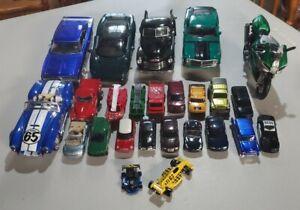 LOT Maisto Cars Trucks Chevy Ford Jaguar Cobra Charger Mustang Benelli 3100 Mini