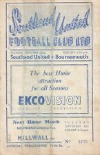Southend United v Bournemouth, 22 September 1951, Division 3 (South)
