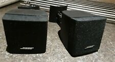 Pair of Bose Single Cube Speakers and Wall Brackets ~ Classic Bose