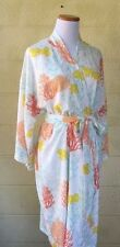 Silky Bamboo Robe -  Coral (short length)