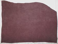 """Thin DARK  BROWN Suede Pigskin Leather Scrap 8.5""""x14"""" avg .6mm thick  #1103"""
