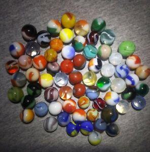 Old Antique marbles lot Christensen Akro Peltier Alley