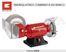 SMERIGLIATRICE COMBINATA DA BANCO DOPPIA MOLA 250W EINHELL TC-WD 150/200