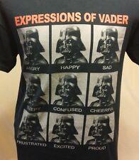 Star Wars Expressions of Vader Pullover Black Short Sleeve T-Shirt; Size L