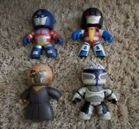Mighty Muggs Lot of 4 Star Wars and Transformers