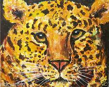 Golden Leopard Abstract  PAINTING ORIGINAL ART - EBSQ  COA - RICKY MARTIN
