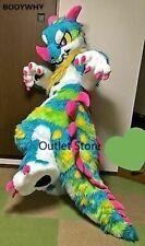 Fursuit Long Fur Dragon Mascot Costume Cosplay Party Advertising Carnival