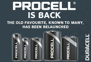 Duracell Industrial Procell Professional Use Batteries Alkaline AA AAA C D 9V