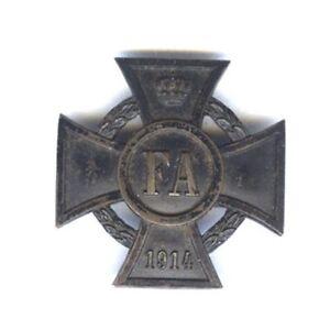 OLDENBURG FREIDRICH AUGUST CROSS 1914-1918 1ST CLASS, PIN BACK BADGE