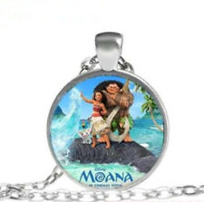 Moana Cabochon Glass Tibet Silver Chain Pendant Necklace Gift