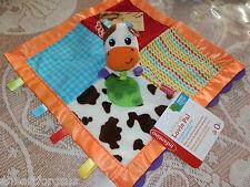 INFANTINO SECURITY BLANKET COW FARM FRIEND LOVIE PAL TEETHER CRINKLES BPA FREE