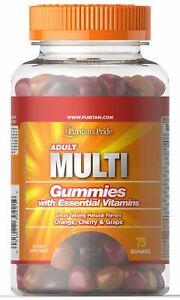 Puritan's Pride Adult Multivitamin Gummy 75 Gummies FREE SHIPPING