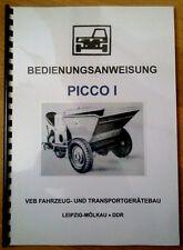Picco Bedienungsanleitung Picco 1 IFA Robur W50 L60 Waran