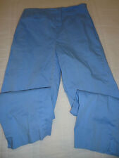 Junior Woman's size 2 Blue Cotton Spandex Crop Pants from Talbots