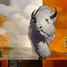 Craig Kosak WHITE BISON OF THE EAST, giclee canvas, Buffalo, #4/25
