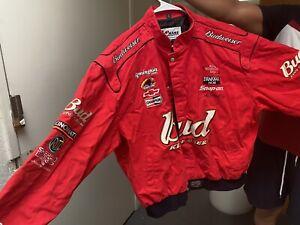 Mens 3XL Chase Authentics Dale Ernhardt Jr Leather Jacket Bud Nascar