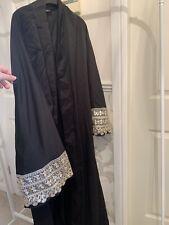 SHEIN Black Open Abaya Gold Sleeves Size M