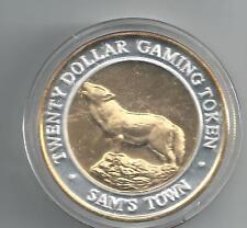 UNITED STATES CASINO MUNT 20 DOLLARS LAS VEGAS ZILVER/GOUD