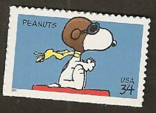 2001 Snoopy Atop Carrousel Peanuts US Stamp First Day Cover Postcard Santa Rosa