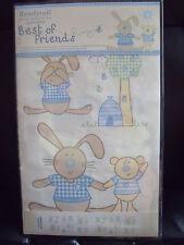BNIP Stickarounds - Nursery Decoration  - Best of Friends (blue) 26 stickers