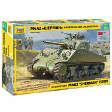 Zvezda 3702 M4A2 Tanque Sherman 75mm Mediano 1:35 Tanque Kit plástico modelo