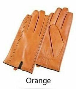 Genuine Leather Winter Men Gloves Touch Screen Warm Fashion Goatskin Mittens