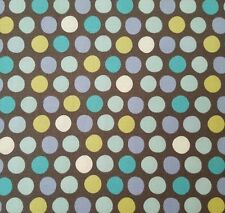 What Little Boys Are Made Of Bethany Shackelford QT BTY Blue Green Dots on Gray